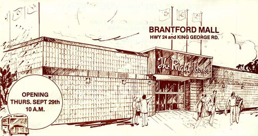 Grand opening of The Right House at Brantford Mall, 29-September-1976.  Image courtesy of the Brant Historical Society