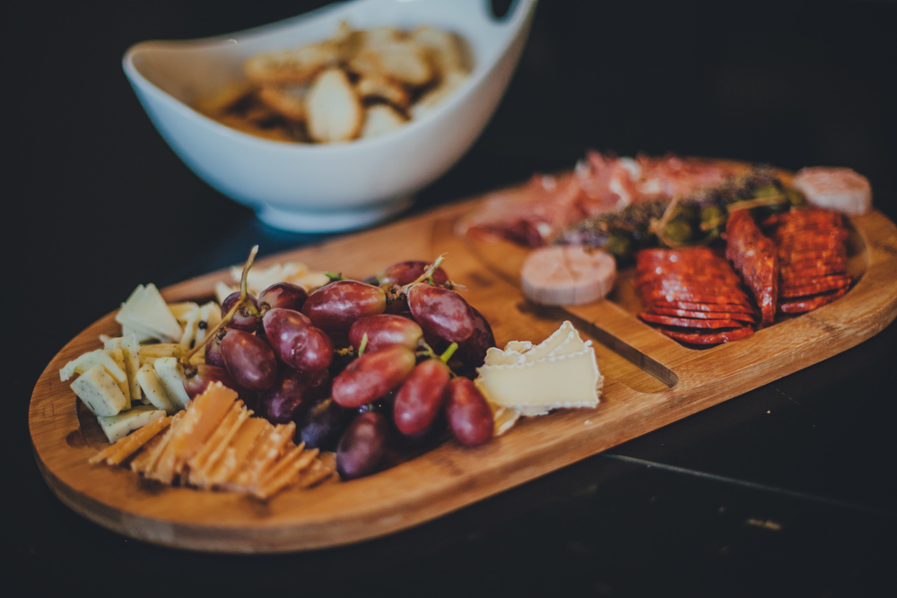Chef's choice charcuterie platter.
