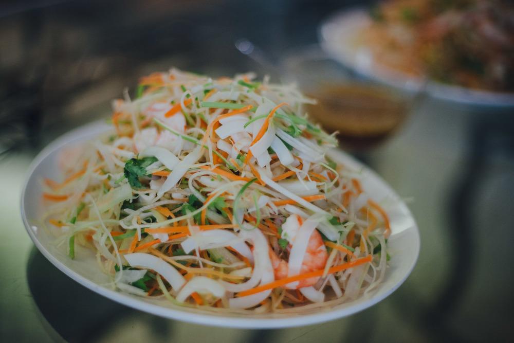 Mom's shrimp & papaya salad - my favorite!