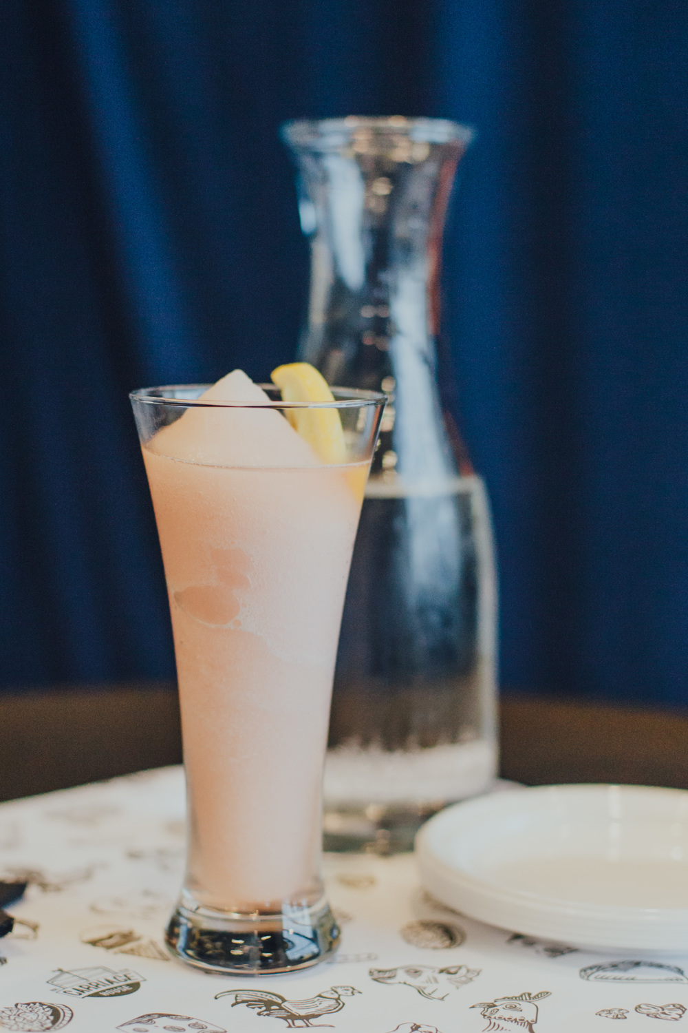 Frosé: Blended rosé, vodka and fruit purée