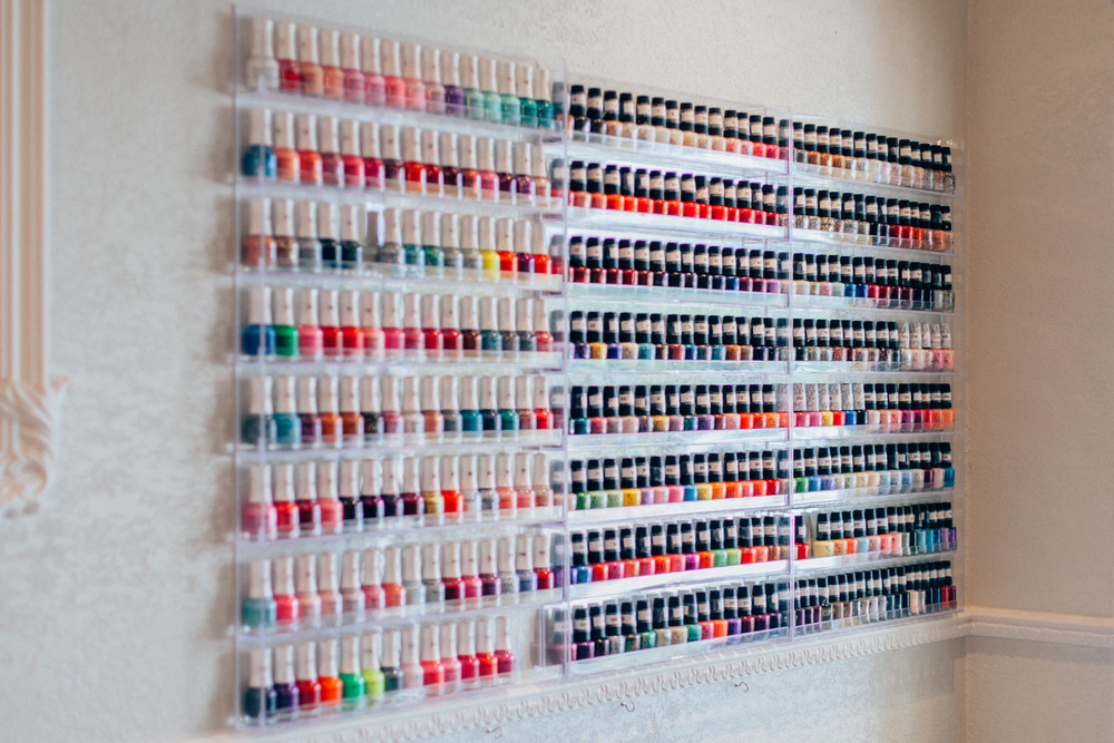 Selection of regular nail polish.