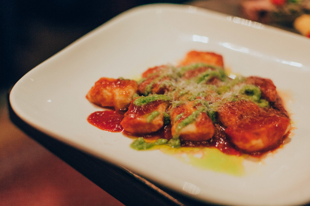 Gnocchi - Herb lemon ricotta, garlic, tomato sauce & pesto.