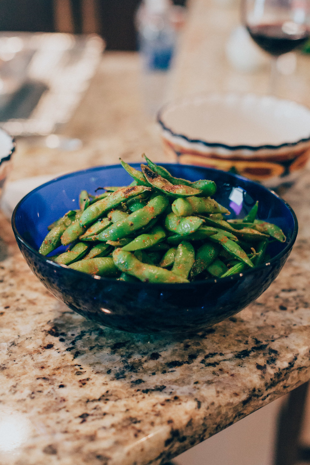 Chef Chanse's special roasted edamame