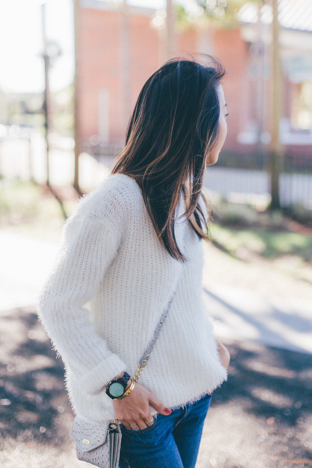 This Jenn Girl - Fuzzy White Sweater 3