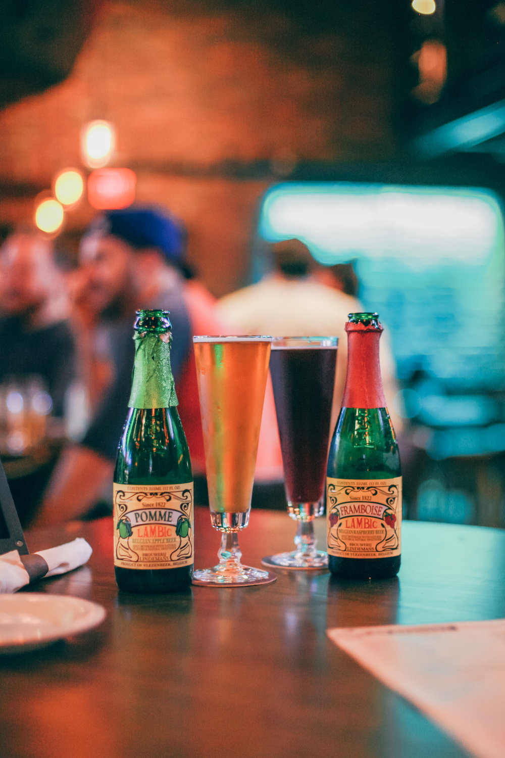 We opted for our favorite lambic beers this time around.
