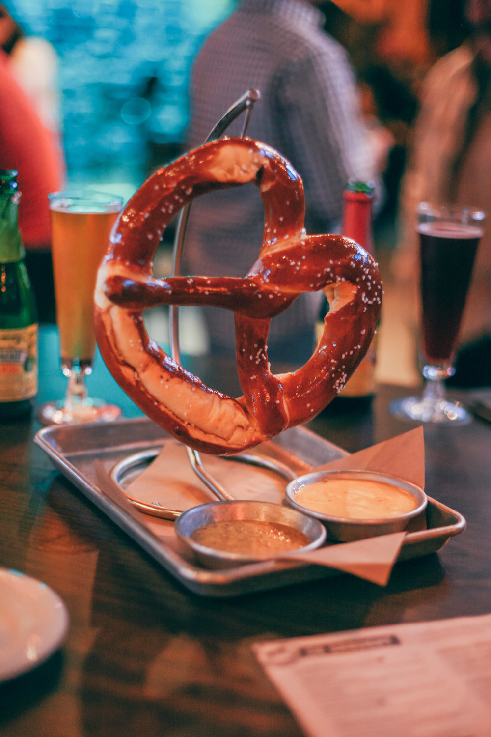 German Pretzel: Served with a house-made stone ground mustard.