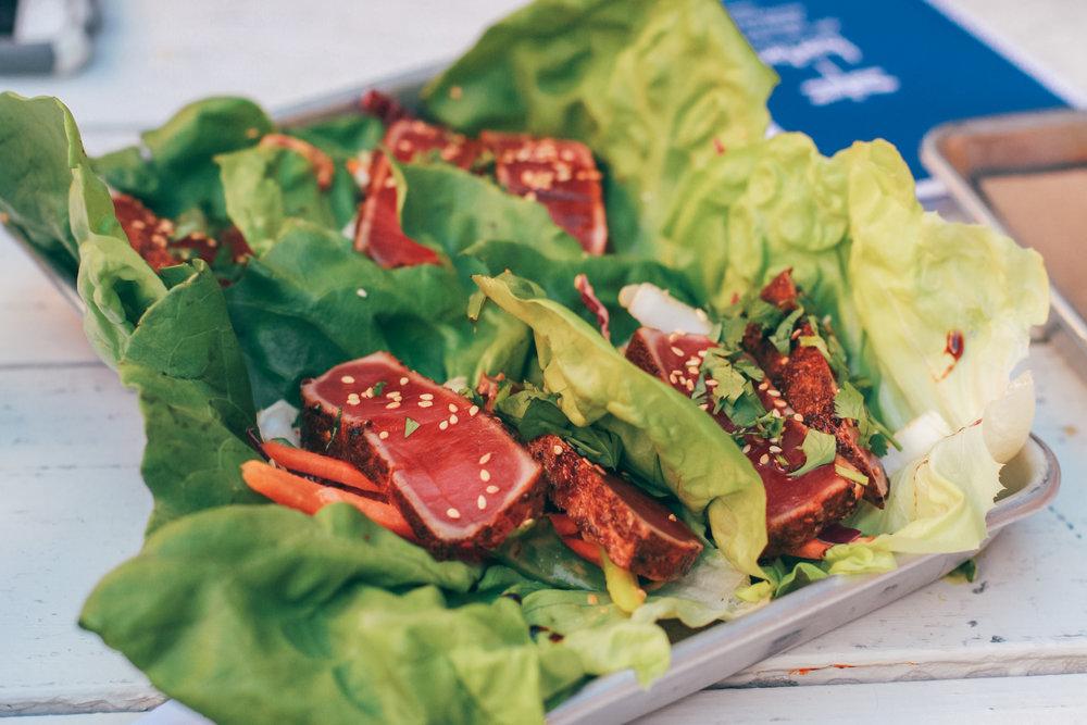 Bartaco Secret: Ancho Ahi Tuna Bibb Lettuce Taco