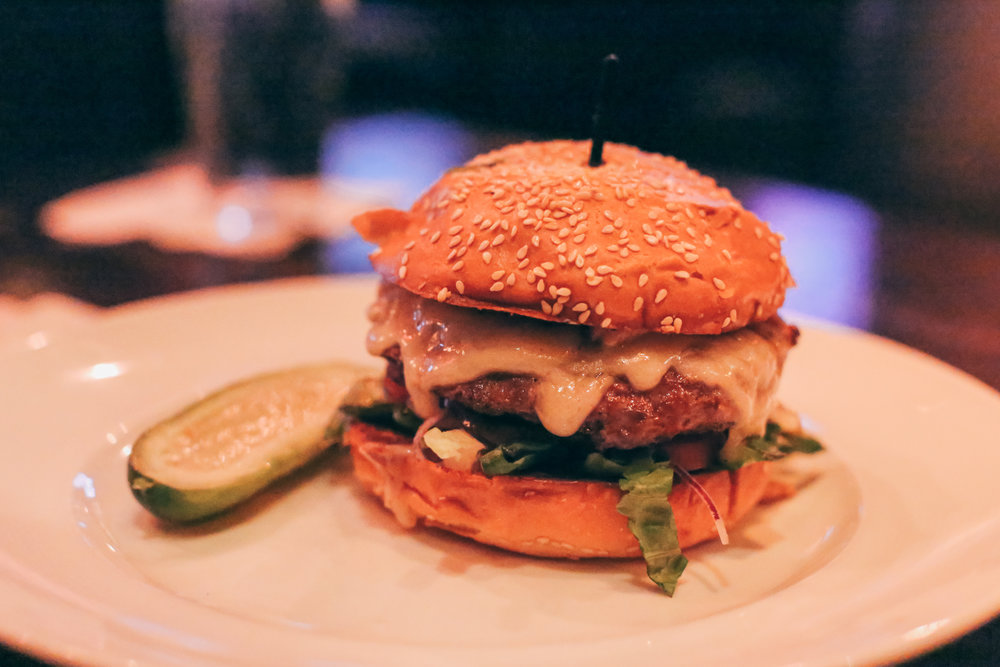 Signature Burger: Swiss Mushroom Burger