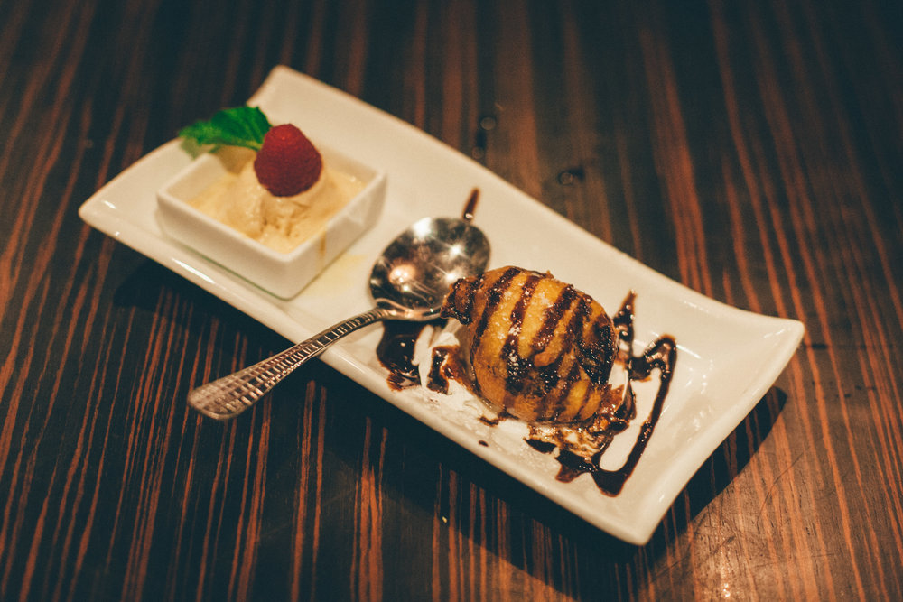 Fried Oreos: Served with salted caramel ice cream
