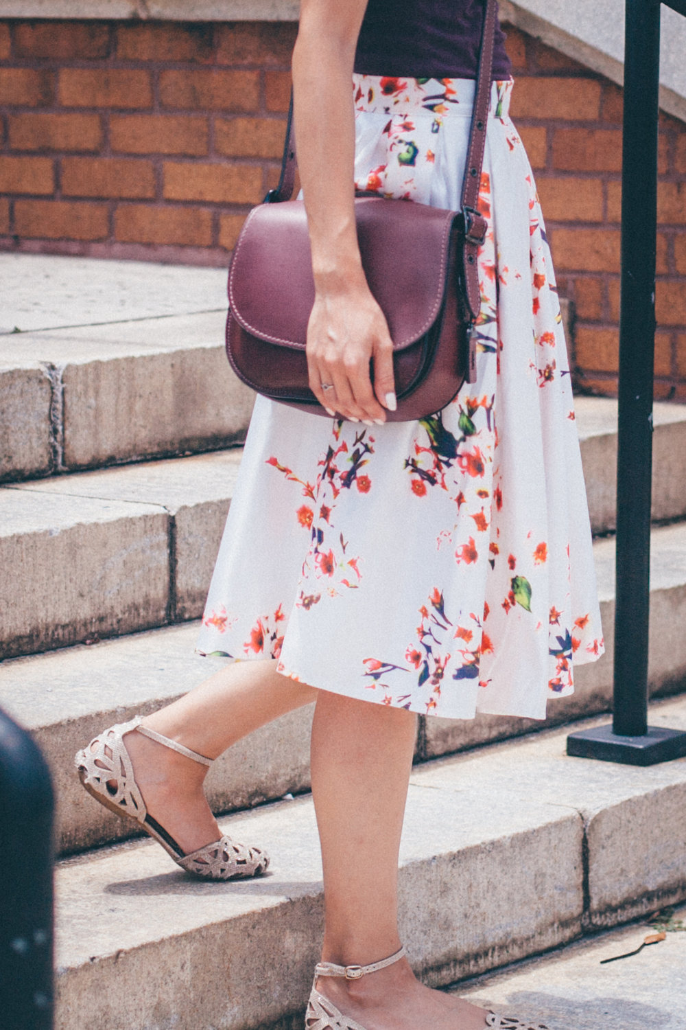 This Jenn Girl - Shein Floral Skirt 2
