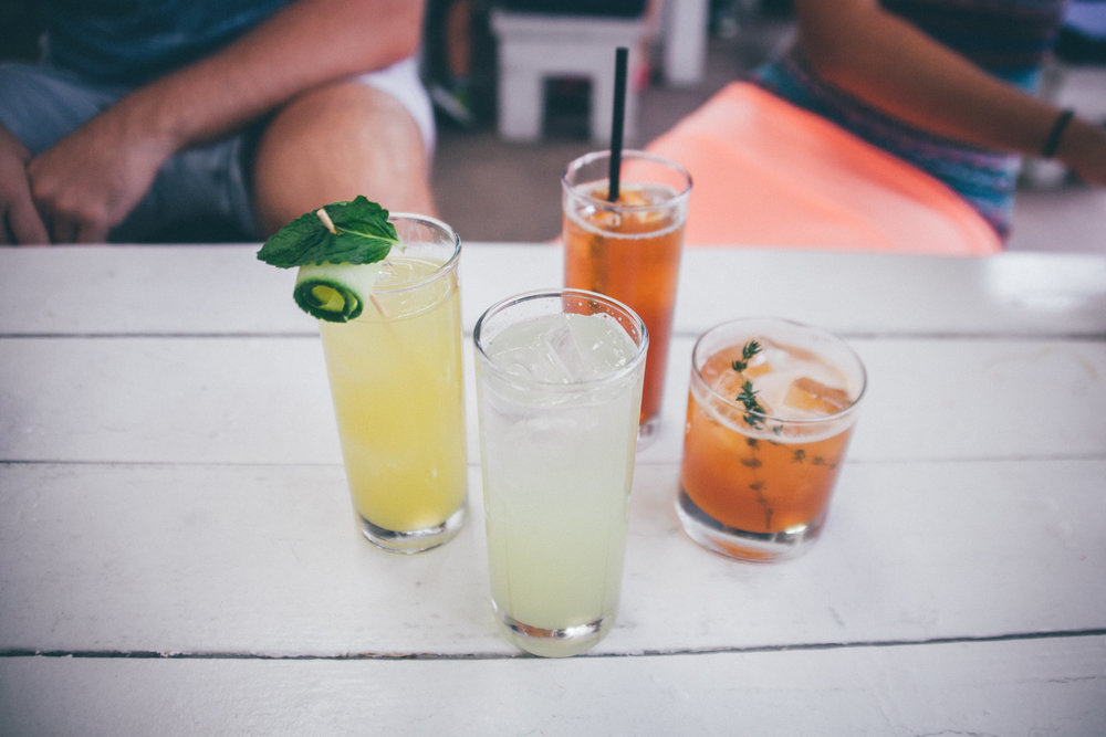 Port Chester Reviver, Limeade Fresca, Arnold Palmer and Old Forester