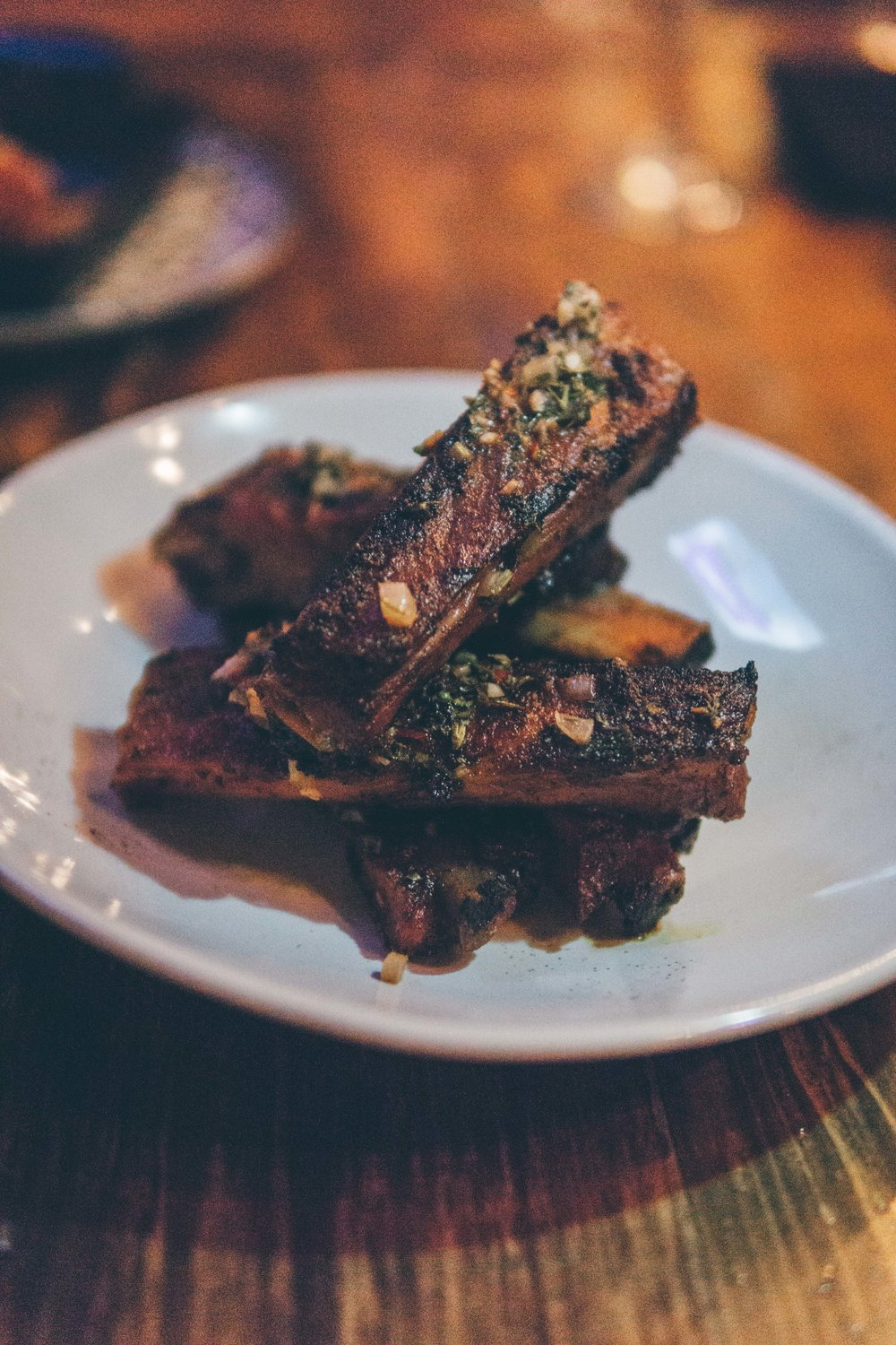 Grilled St. Louis Pork Ribs with Chimichurri Sauce