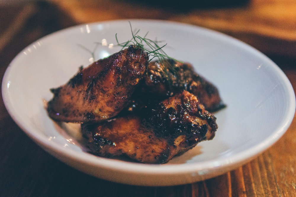 Chicken Wings: Grilled, Molasses-Glazed