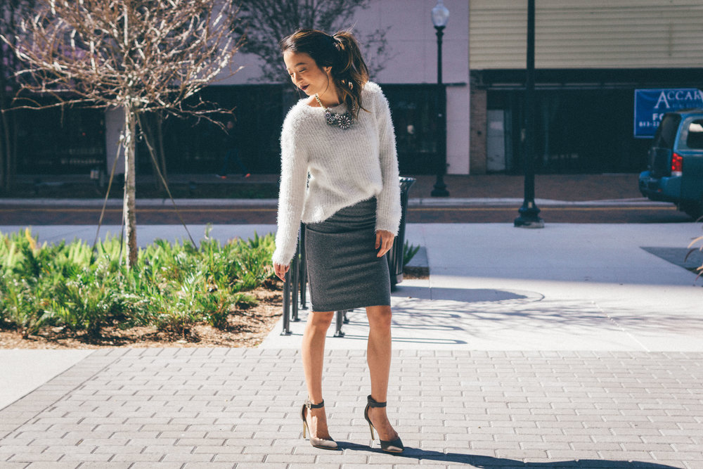 This Jenn Girl - Tampa Blogger - Fuzzy Sweater Outfit 1