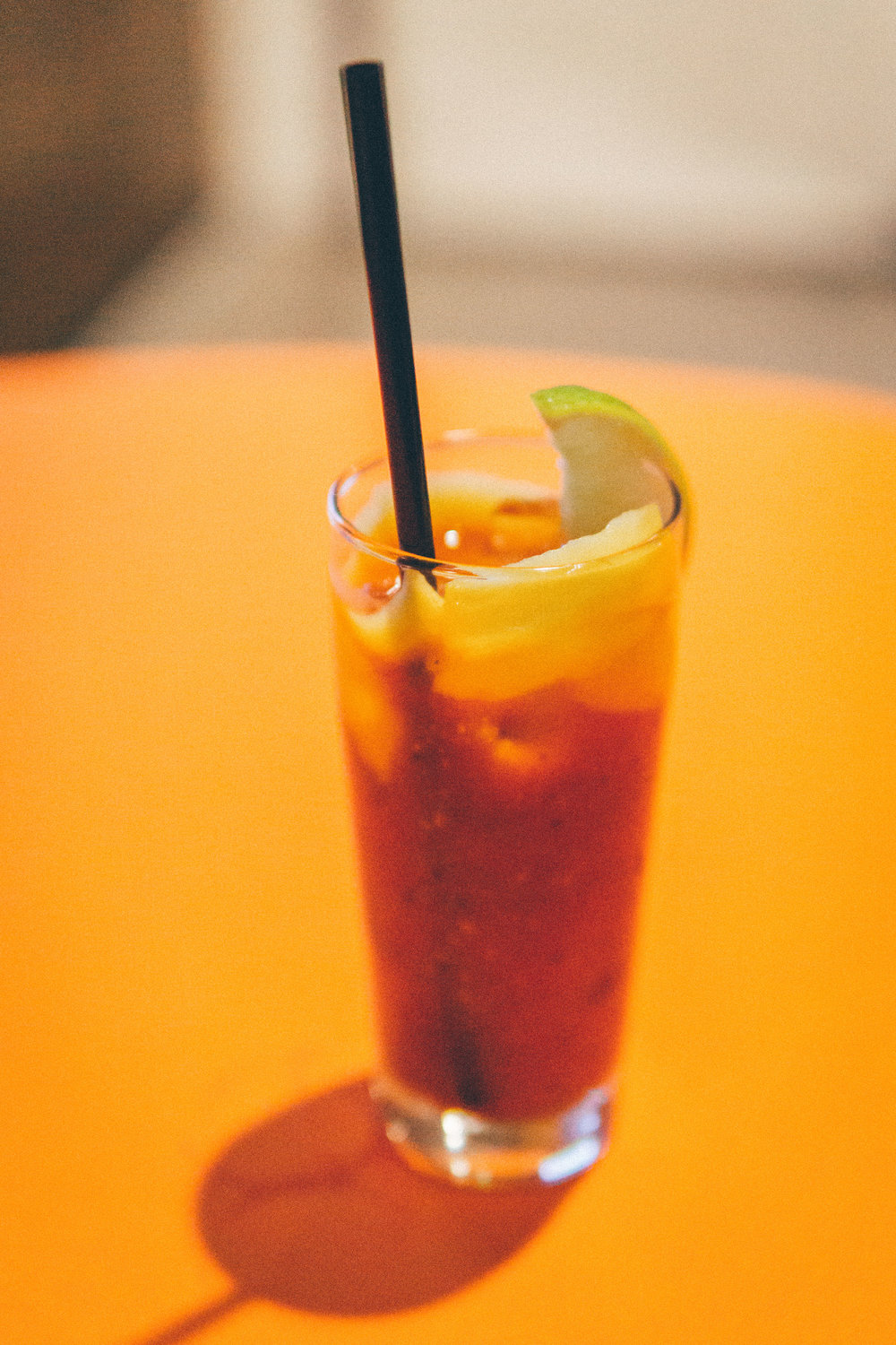 Habanero Mary: House-Made Bloody Mary Mix, Old Smokey Habanero Mango Bourbon