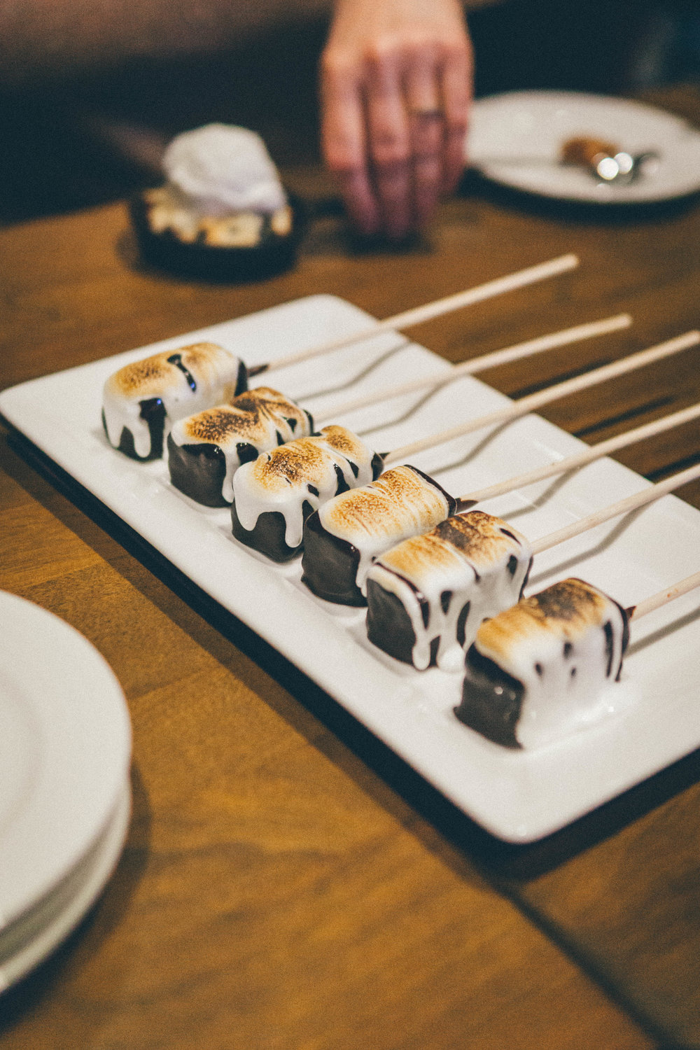 S'Mores: Dark Chocolate Brownie, Graham Crust, Brulee Marshmallow
