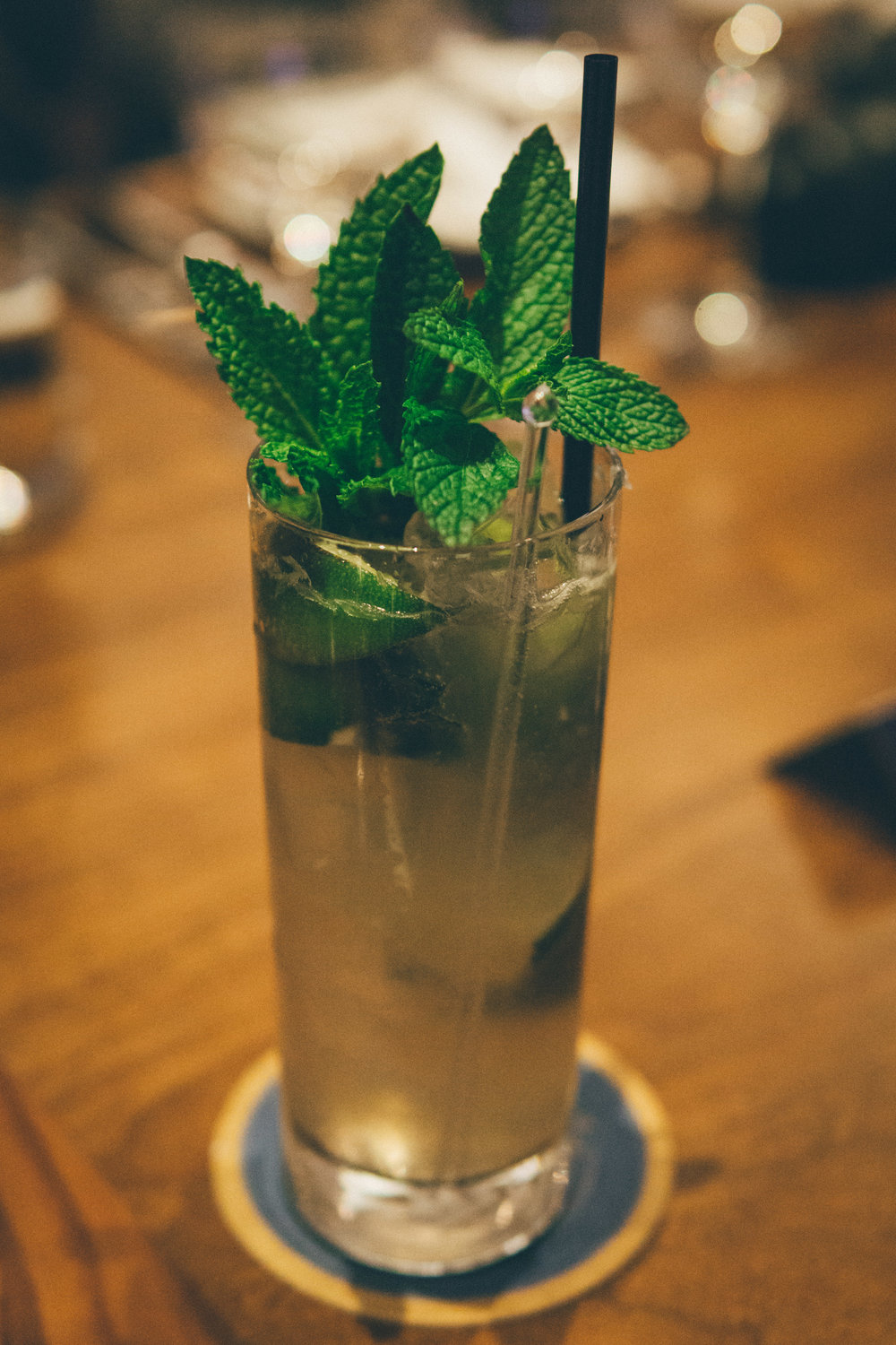 The Rez Cocktail - house-infused pineapple tequila, mint, lime, club soda