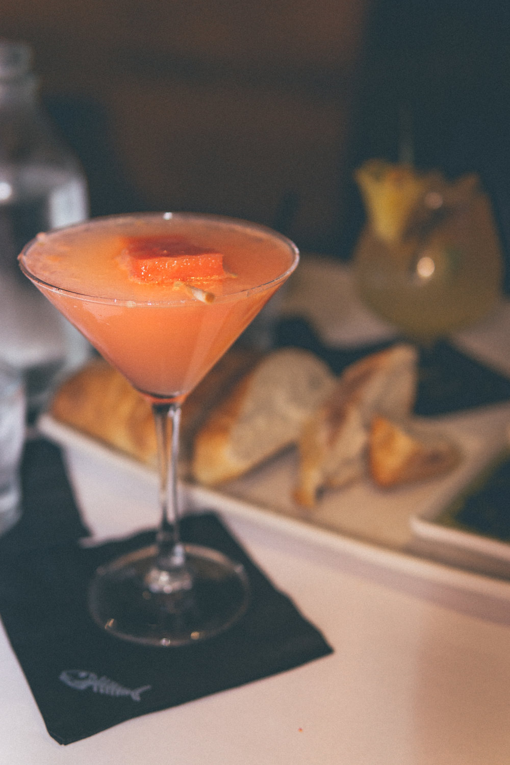 Fresh Watermelon Martini: Hand-muddled watermelon, house-infused English cucumber vodka & fresh sour.