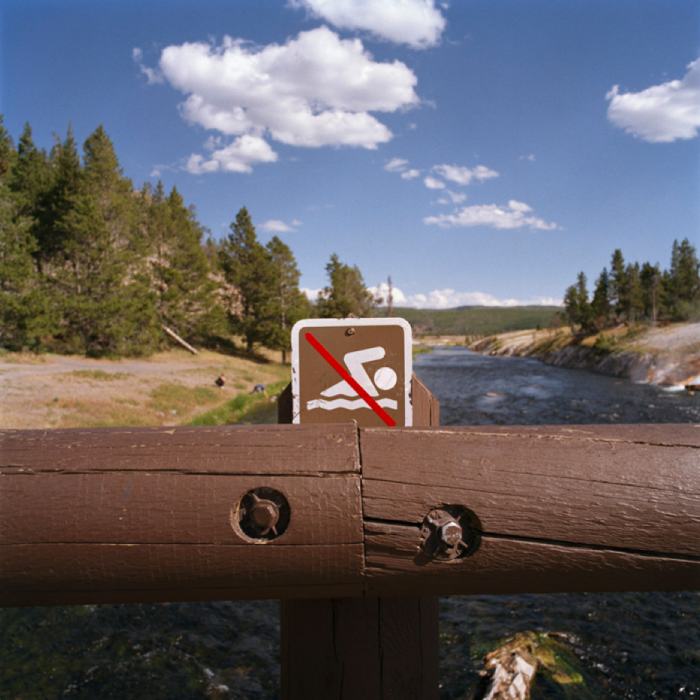 No Swimming, Yellowstone National Park, WY