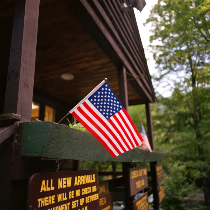 Flag, Woodland Valley State Campground, Catskill Park, NY