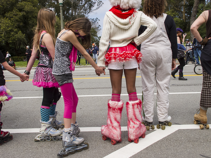 Roller Skaters. Golden Gate Park. San Francisco, CA