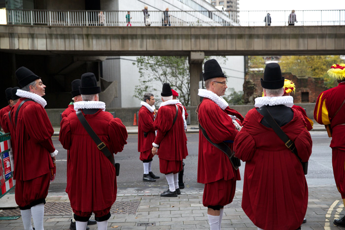London Wall, Lord Mayor's show, 2012