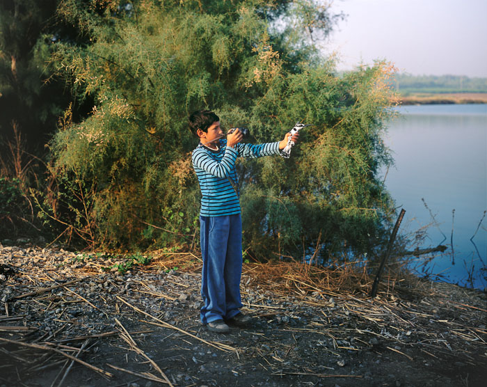 Zohar With Pied Kingfisher, 2010