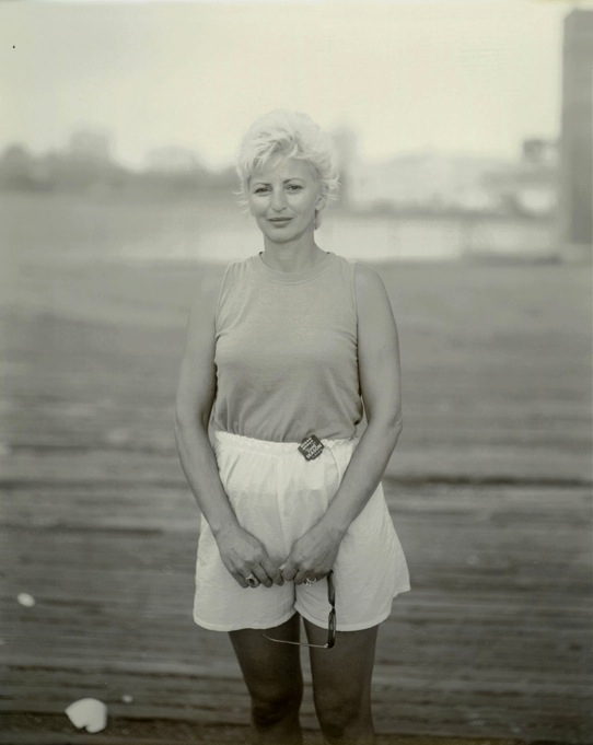 Blond Woman at Asbury Park, 1990