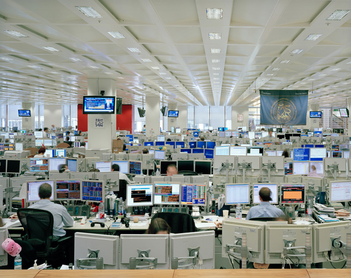Trading floor, London, April 2008