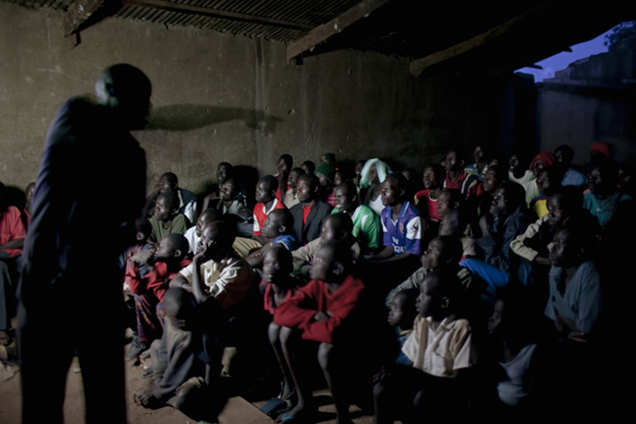 Watching Arsenal vs Fordham for 500 Shillings, Paicho IDP Camp, 2009
