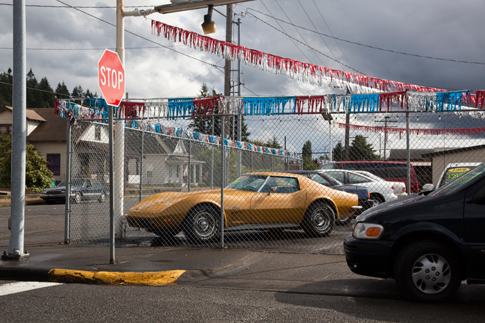 Gold Corvette