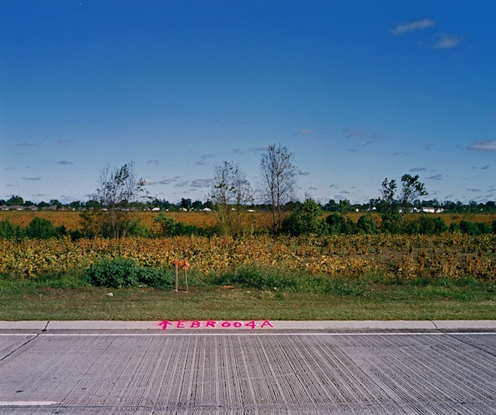 Road Markings, Field and Houses, BRLA 2009