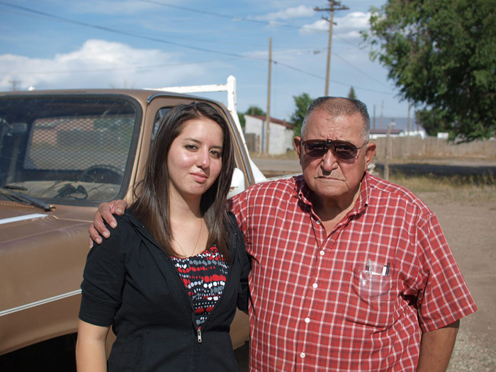Mel Sr. & Abbie Jaramillo outside the family slaughterhouse