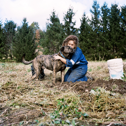 Christin Boggs (Washington DC) Allie and the Dog, GVOCSA Peacework Farm, 2009 From the series Slow and Steady