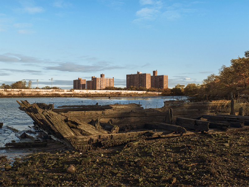 Grounded in Coney Island Creek, Brooklyn, NY, 2011