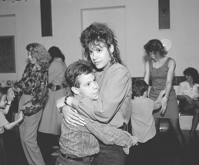 Mother and Son Dancing