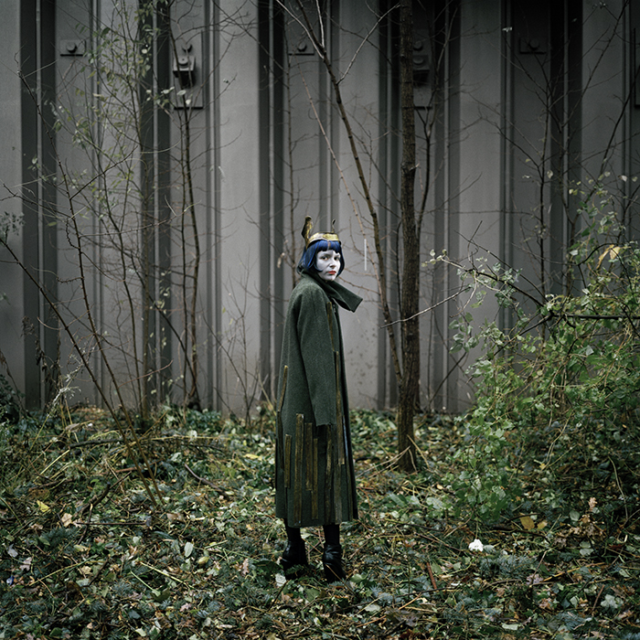 "Emilie Delugeau ""Veronika in a coat and head piece by Martin Niklas Wieser / make-up by Masami Hanyuda"""