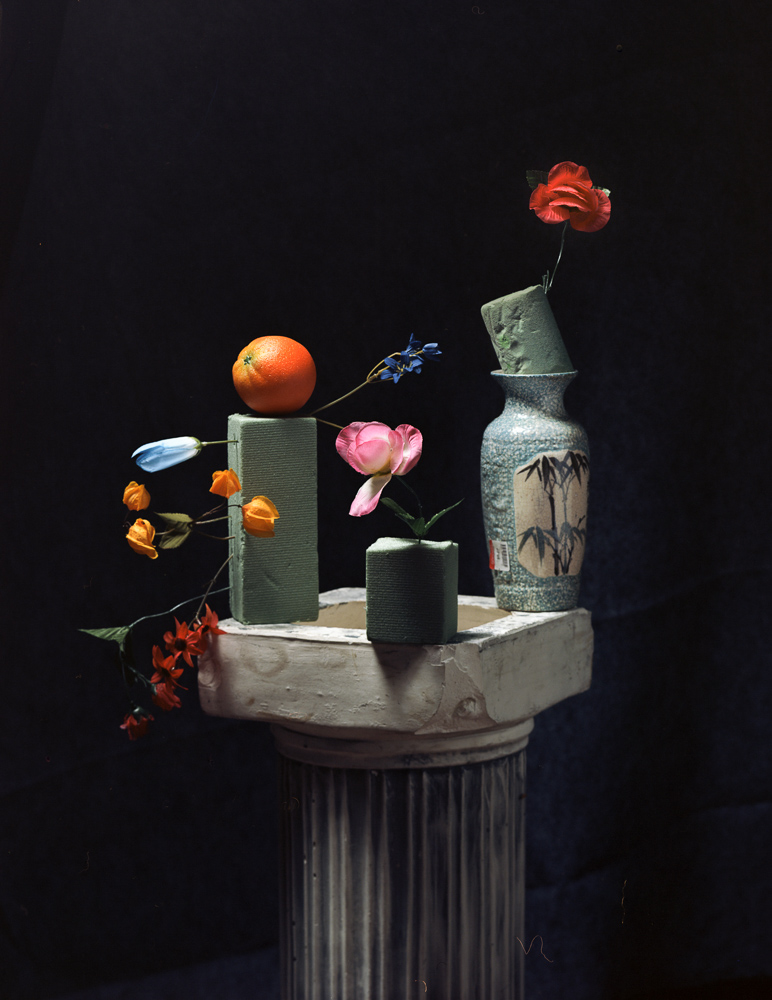 Floral Arrangement with Orange and Column, 2015