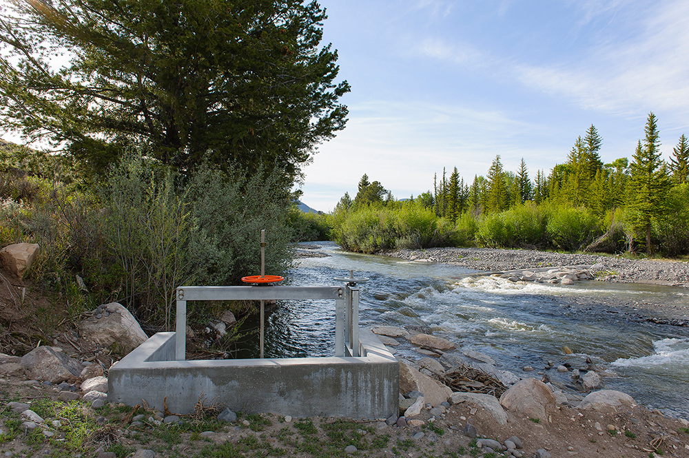 New Head Gate on East Fork of the Wind River, National Elk Refuge