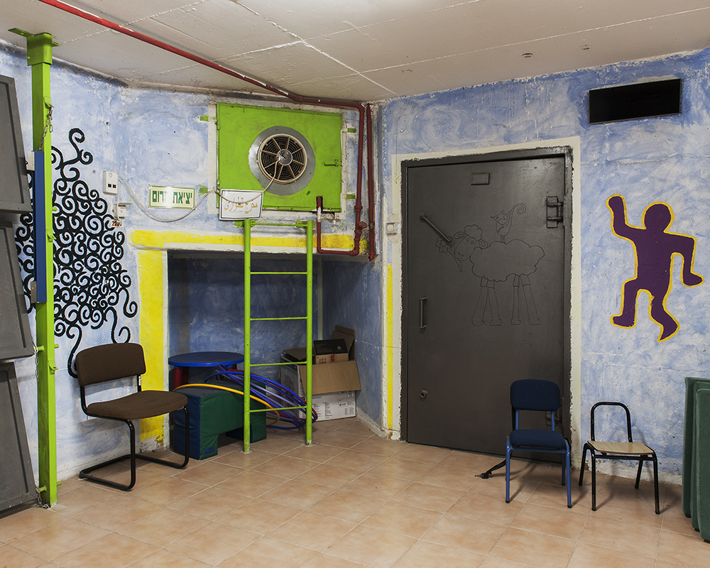 Bomb shelter inside of a primary school in the Druze village of Hurfeish in the Galilee.