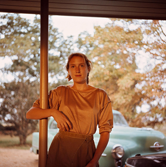 Bonnie Claire, green car