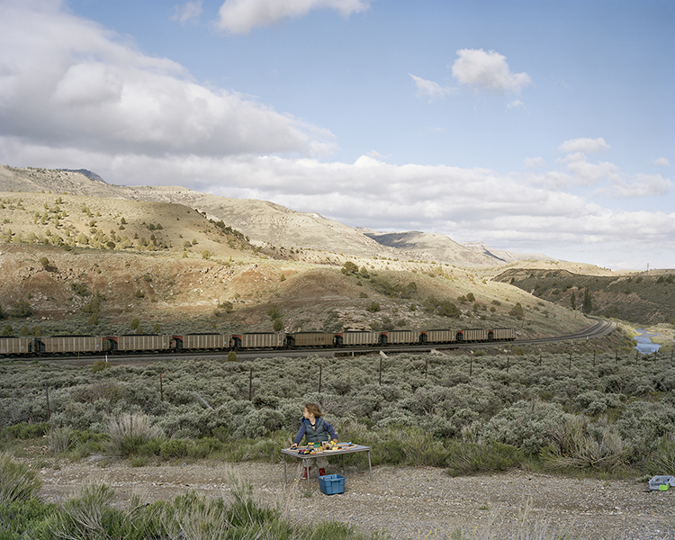 Justine Kurland, Waiting for Trains While Playing with Trains, 2009, © Justine Kurland