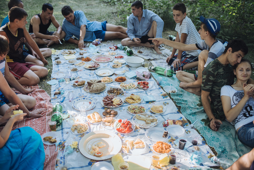 It's common for the village, that young people organize a farewell party before they go to the army for a year.