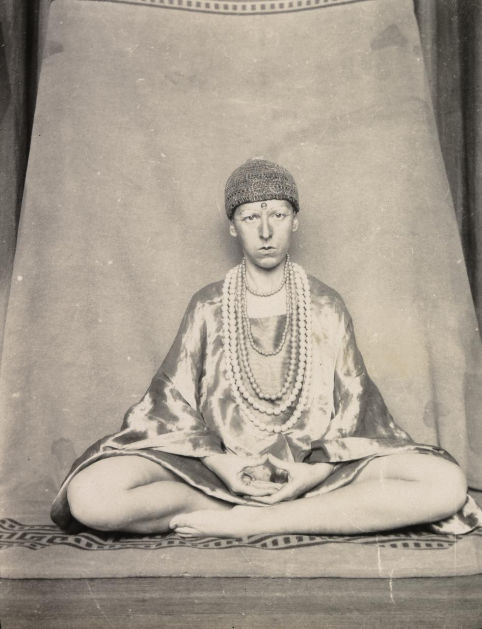 Claude Cahun, French (1894–1954).  Self-portrait , 1927. Gelatin silver print, 4 1/8 × 3 1/8 inches. The Nelson-Atkins Museum of Art, Kansas City, Missouri. Gift of the Hall Family Foundation, 2016.75.26.