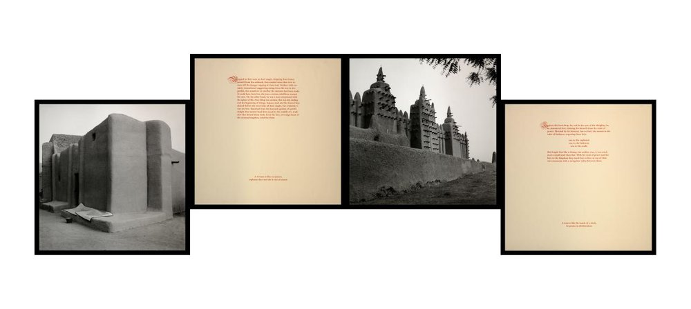 Carrie Mae Weems, American (born 1953).  A Place for Him, A Place for Her , 1993. Gelatin silver prints with text, each 20 × 20 inches. The Nelson-Atkins Museum of Art, Kansas City, Missouri. Gift of the Hall Family Foundation, 2016.75.357.1–4.