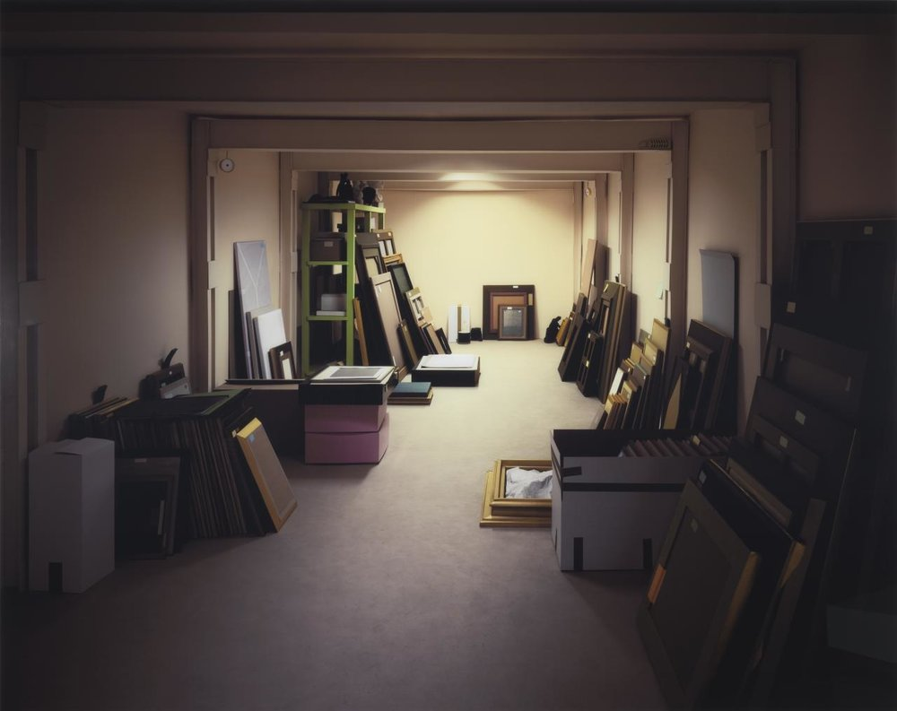 Thomas Demand, German (b. 1964).  Vault , 2012. Chromogenic print, 86 3/4 × 109 1/16 inches. The Nelson-Atkins Museum of Art, Kansas City, Missouri. Gift of the Hall Family Foundation, 2017.61.9.