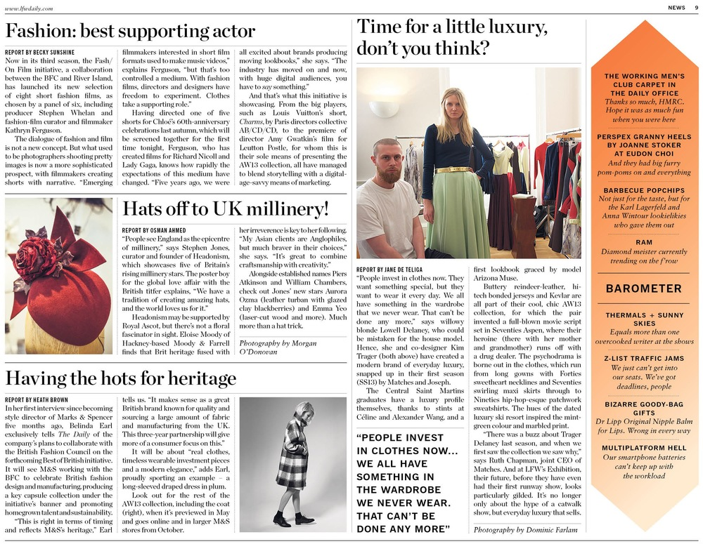 Hats Off to UK Millinery, LFW The Daily