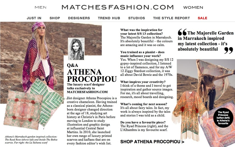 Athena Procopiou, MatchesFashion.com