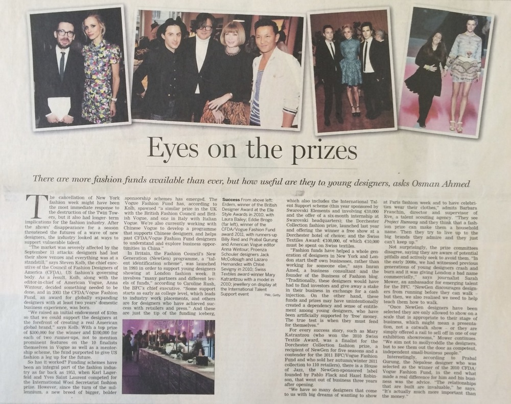 Eyes on the Prize, Financial Times