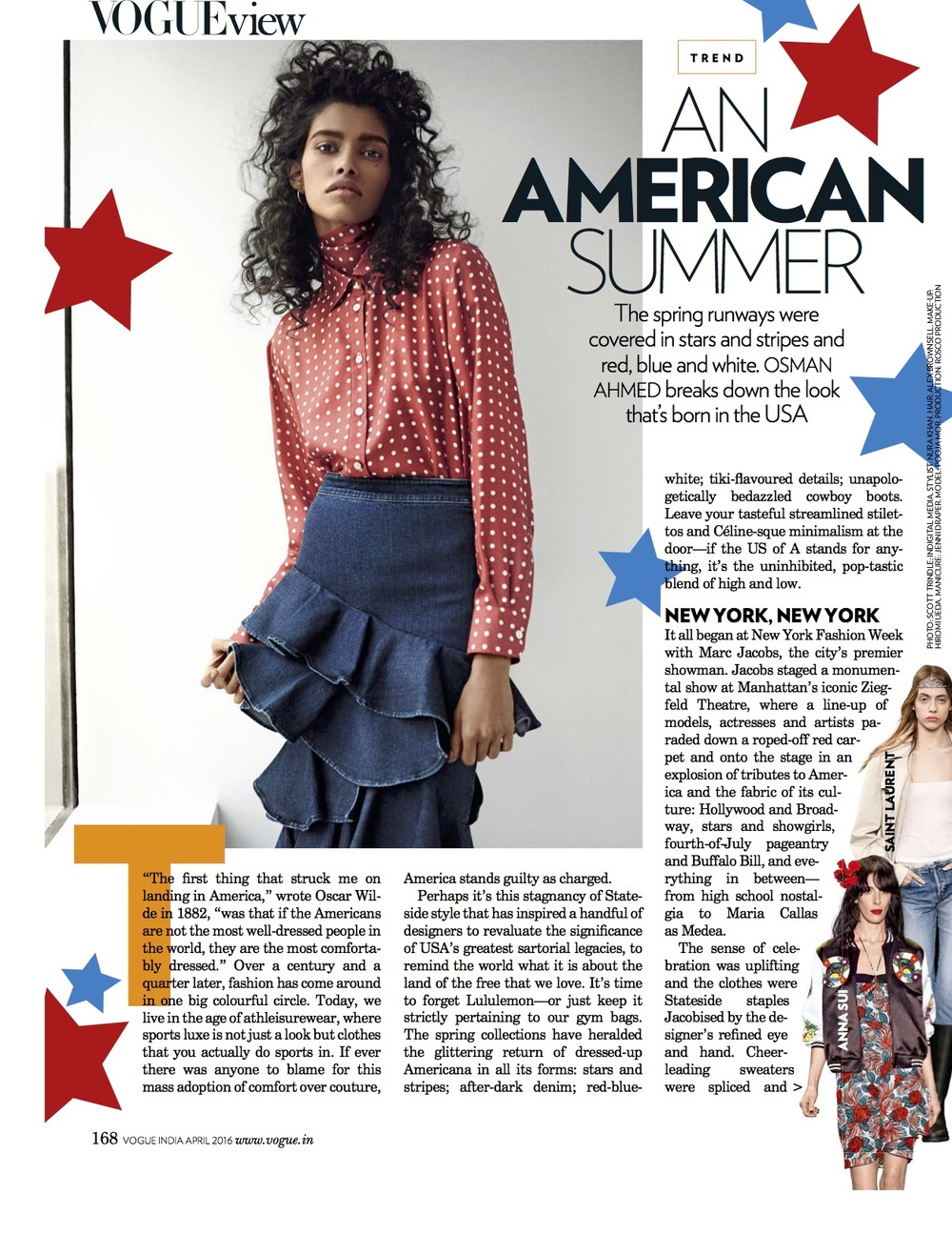 An American Summer, Vogue India